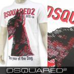 ディースクエアード DSQUARED2 メンズ Tシャツ GD0402 S22427/ホワイト/100/クルーネック/半袖/18ss