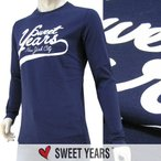 スウィートイヤーズ SWEET YEARS メンズ 長袖Tシャツ ロンT/カットソー SYU4500 ネイビー/BLU/1617aw/セール