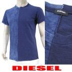 2月19日(日)新入荷!/ディーゼル DIESEL メンズ Tシャツ T DOUBLE IND 00SVU6 0DAOH ウォッシュネイビー/81E/半袖/クルーネック/17ss