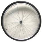 27インチフロントホイール アルミリム (03D) タイヤチューブセット 【自転車】【一般車用パーツ】【タイヤ/チューブ/ホイールセット】