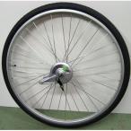 27インチ リアホイール アルミリム  14Tギア サーボブレーキ付(07D) タイヤチューブセット 【自転車】【一般車用パーツ】【タイヤ/チューブ/ホイールセット】