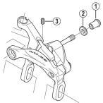 [1]取付ナット(前用/32.0mm) 【自転車】【ロードレーサー用】【DURA-ACE】【BR9000用スモールパーツ】