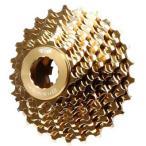 TNI アルミコグ (ロックリング付) ゴールド シマノ11S 【自転車】【ロードレーサーパーツ】【スプロケット】【TNI】