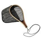 【オルルド釣具】 ランディングネット 渓流釣り・管釣り・フライフィッシングに 木製 ウェーディングマン用