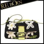 フェンディ FENDI バッグ  マンマバケット 刺繍/花柄 フラワー ショルダー バッグ