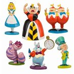 Disney(ディズニー) Alice in Wonderland Figure Play Set 不思議な国のアリスのフィギュアセット