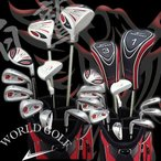 ワールドイーグル 5Z-WHITE メンズゴルフクラブ14点フルセット 4色から選べるバッグ! 右用】