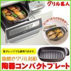グリル名人 魚焼きグリル 対応 陶器グリルプレート 長角型 BR #3664