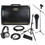 Peavey (ピーヴィー) Ecoustic E208 アンプ アンプリファー BUNDLE w/ Amp Stand, Microphone, Cables