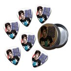 Jack Barakat All Time Low 6 X Celluloid ギターピック in Tin ( Flag Design ) ギター アコギ ベース
