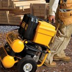 DEWALT(デウォルト) D55154 1.1 HP Continuous 4 Gal Electric Wheeled Dolly-Style Air Compressor Panel