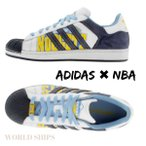 スーパースター アディダス スニーカー adidas Originals Superstar 1 NBA SERIES - DENVER NUGGETS (R WHITE / COL NAVY / COL BLUE)【海外限定・正規品】
