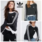 アディダス Tシャツ 長袖 adidas Originals Black Three Stripe Long Sleeve T-Shirt ブラック 海外限定 正規品