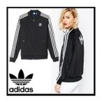 ���ǥ����� �ȥ�å� ���㥱�å� �����ѡ������� adidas Originals Supergirl Track Top �֥�å�
