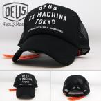 デウス エクスマキナ キャップ メンズ 【 Deus Ex Machina 】Tokyo Address Trucker ブラック