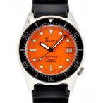 Squale(スクワーレ) 時計 ダイバーズウォッチ 1521-026-OB オレンジ×ブラックラバーベルト