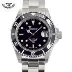 Squale(スクワーレ) 時計 ダイバーズウォッチ 1545-C クラシックブラック×ステンレススチールベルト
