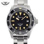Squale(スクワーレ) 時計 ダイバーズウォッチ 1545-MI オフマットブラック×ステンレススチールベルト