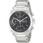 Oris bc4ブラックダイヤル自動メンズ腕時計SSクロノグラフ67476164154?MB