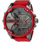 ディーゼル/時計/Diesel/メンズ腕時計/DZ7370/Mr.Daddy/ガンメタル/レッド/ステンレスラバーベルト