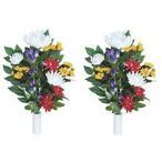 ポイント10倍《アートフラワー》《造花》光の楽園 組仏花2個セット