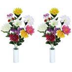 【ポイント10倍】《アートフラワー》《造花》光の楽園 仏花ゆり2個セット