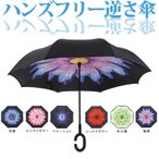 逆さ傘 傘 さかさま傘 自立 逆さ傘 超撥水 雨& 高密度 長傘 逆傘 日傘 UVカット 逆向き 逆さまの傘 ジャンプ ボタン式 炭素繊維
