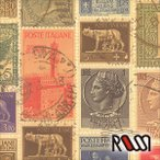 在庫限りSALE  ROSSI  ロッシ 輸入包装紙 CRT657 Italian stamps  5枚入り