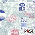 在庫限りSALE  ROSSI  ロッシ 輸入包装紙 CRT666 City maps  5枚入り