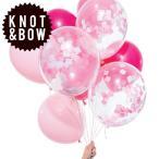 風船 KNOT & BOW パーティーバルーン 12個入り ピンクミックス