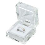 ジュエリーケース アクセサリーケース  350 クリスタルケース ホワイト 指輪 リング ・ピアス イヤリング ・ネックレス用