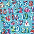 クリスマス 包装紙 ラッピングペーパー アドベント 半才 (50枚入り) HEIKO シモジマ
