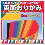 折り紙 トーヨー 004014 12種類のカラーパターン 両面おりがみ ネコポス対応
