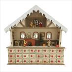 クリスマス オブジェAPJ アートプリントジャパンウッドアドベントカレンダー ハウス1000094311