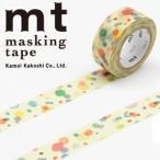マスキングテープ  カモ井加工紙 mt for kids てんてん 15mmx7m ミニ紙管 MT01KID021 ネコポス対応