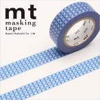 マスキングテープ マステ mt カモ井加工紙 mt 1P (15mmx10m) ドットストライプ・ブルー MT01D409