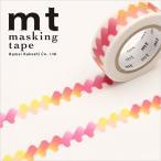 ネコポス対応 マスキングテープ mt カモ井加工紙 mt 1P (15mmx10m) ゆらゆら・赤 MT01D410