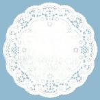 ネコポス対応 サンレオ インペリアル レースペーパー 丸型 白 No.4 直径10cm  120枚入り