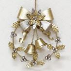 クリスマス売り切りSALE ディスプレイ クロッシュノエル ラウンドリース ポインセチア ゴールド Lサイズ 4007862-02