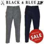 BLACK & BLUE ブラックアンドブルー フラノノータックパンツ 119P08