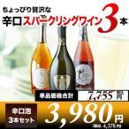 ワイン スパークリングワインセット ちょっぴり贅沢な辛口スパークリングワイン3本セット 第9弾 sparkling wine set