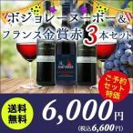 ワイン 赤ワインセット ボジョレー・ヌーボー入り自然派ワイン3本セット 送料無料 赤3本 wine set