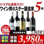※内容変更 SALE ワイン 赤ワインセット「1」トリプル金賞入り!ワイン界のスター醸造家赤5本セット 送料無料 wine set