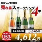 スパークリングワインセット 現役ソムリエの売れ筋スパークリングワイン4本セット 第5弾 スパークリングワインセット wine set