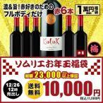 SALE 福袋 赤ワインセット「F14」極上バローロ入り!ソムリエ上質お年玉福袋・フルボディ赤ワイン6本 送料無料 赤ワインセット wine 家飲み 飲み比べ