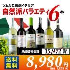 ワインセット イタリア自然派バラエティ6本セット 第8弾 送料無料 赤3本&白3本 wine set