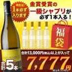 sale ワイン 福袋「F2」1級シャブリ入り!ソムリエお年玉福袋・白ワイン5本 送料無料 白ワインセット wine 家飲み 飲み比べ