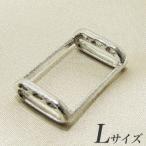 ブローチを帯留めに変身!万能くん金具 L(1.7×2.5cm) シルバー(silver) [n3](和装 着物)