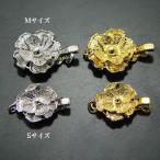 バラ型クラスプM/Sサイズ シルバーSV  真珠用