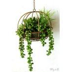 人工観葉植物 Succulent Wire Ball L ハンギング ( 多肉植物 寄せ植え フェイクグリーン 壁飾り 壁掛け )